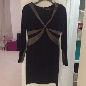 BCBGMAXAZRIA long sleeve black dress